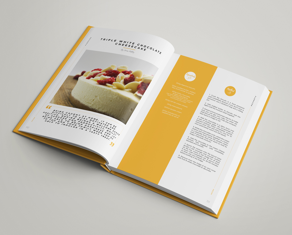 The Orangery Tea Room Recipe Book - Creative - Production Bureau